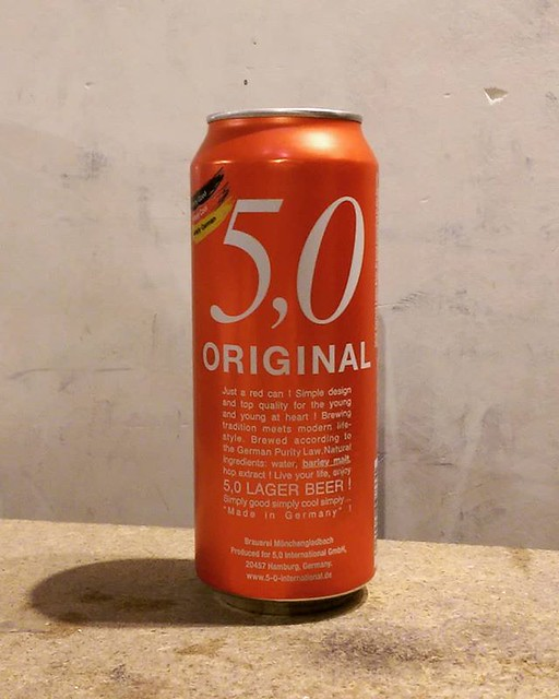 5,0 #Original #Lager #beer by #brauereimönchengladbach #50originallager #50original #50originalbeer #50originalbier #brauerei #mönchengladbach #germanbeer #germanybeer #germancan #hamburg #deutchland #deutschbier #germany #german #madeingermany #lagerbeer