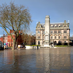 Damp reflections at Preston by the Cenotaph