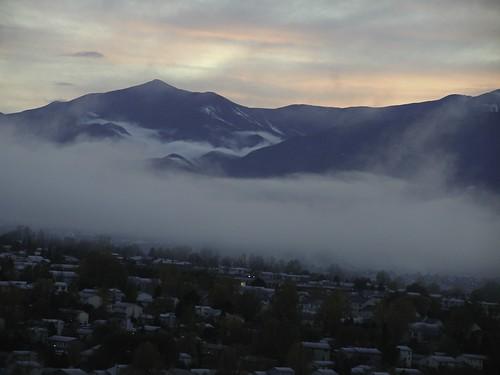 landscapes mountains colorado mist fog clouds scenics