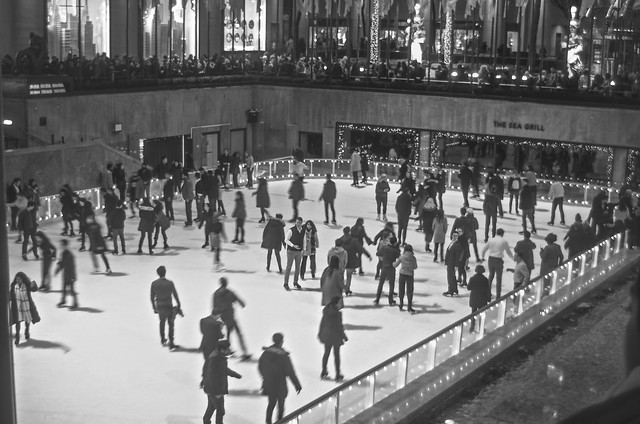 Me and her, lost in the middle of the ice skating rink at Rockefeller Center.