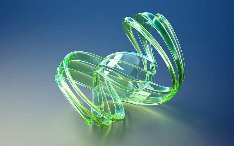 Обои форма, стекло, салатовый, яркий, поверхность, фигура картинки на рабочий стол, фото скачать бесплатно
