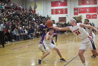 Haddonfield's Dylan Heine controls a loose ball in a playoff game vs. Camden. | by tedtee308