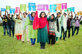 Bangladeshi youth supporting access to science initiated by Farming Future Bangladesh_Alliance for Science_Arif Hossain