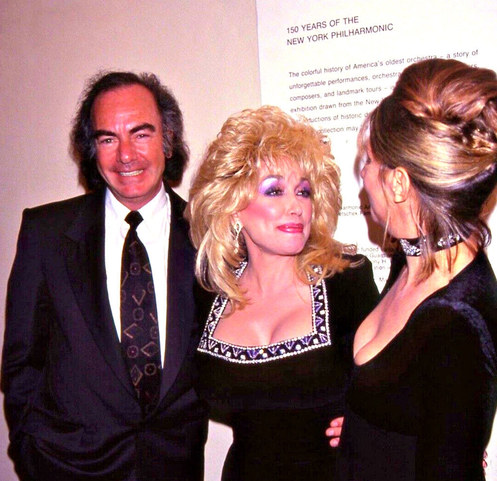 Neil Diamond With Dolly Parton Barbra Streisand Neil Dia Flickr