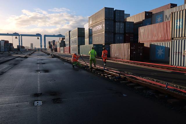 Outage APM Terminals Maasvlakte II Port of Rotterdam by Hans Hendriksen.APMT 196