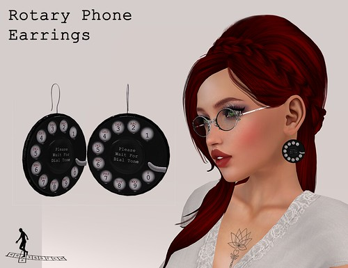 Rotary Phone Earrings | by ♥☆•Chandni•☆♥ / *~*HopScotch*~*