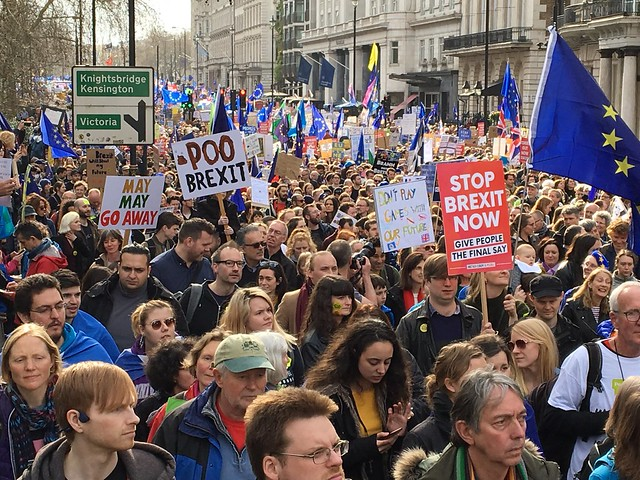 People's Vote march - a million protest against Brexit