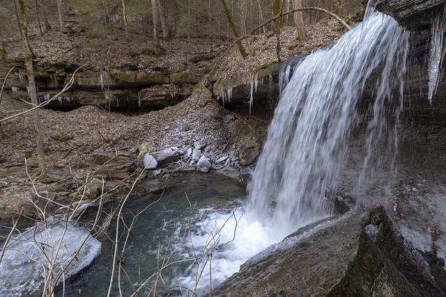 Middle Polly Branch Falls, Bridgestone Firestone Centennial Wilderness WMA, White County, Tennessee 1