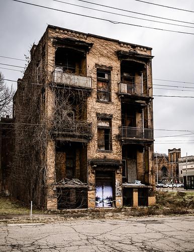 braddock us usa unitedstates rustbelt allegheny town city urban urbex decay abandoned building buildings