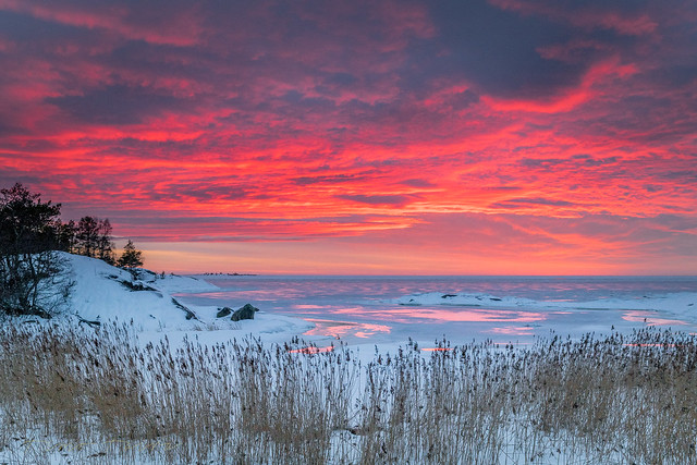 Colorful sunset on the Gulf of Bothnia. Vol 2