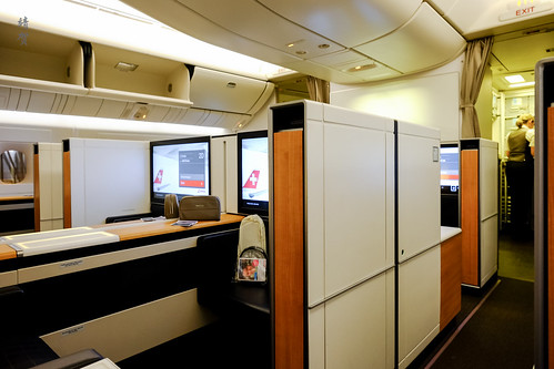 Aisle in the First Class cabin | by A. Wee