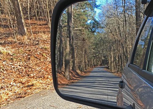 takeaim rearview mirror car perspective park road
