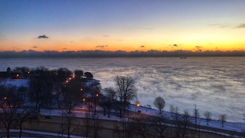 Sea smoke on Lake Michigan | by dschirf