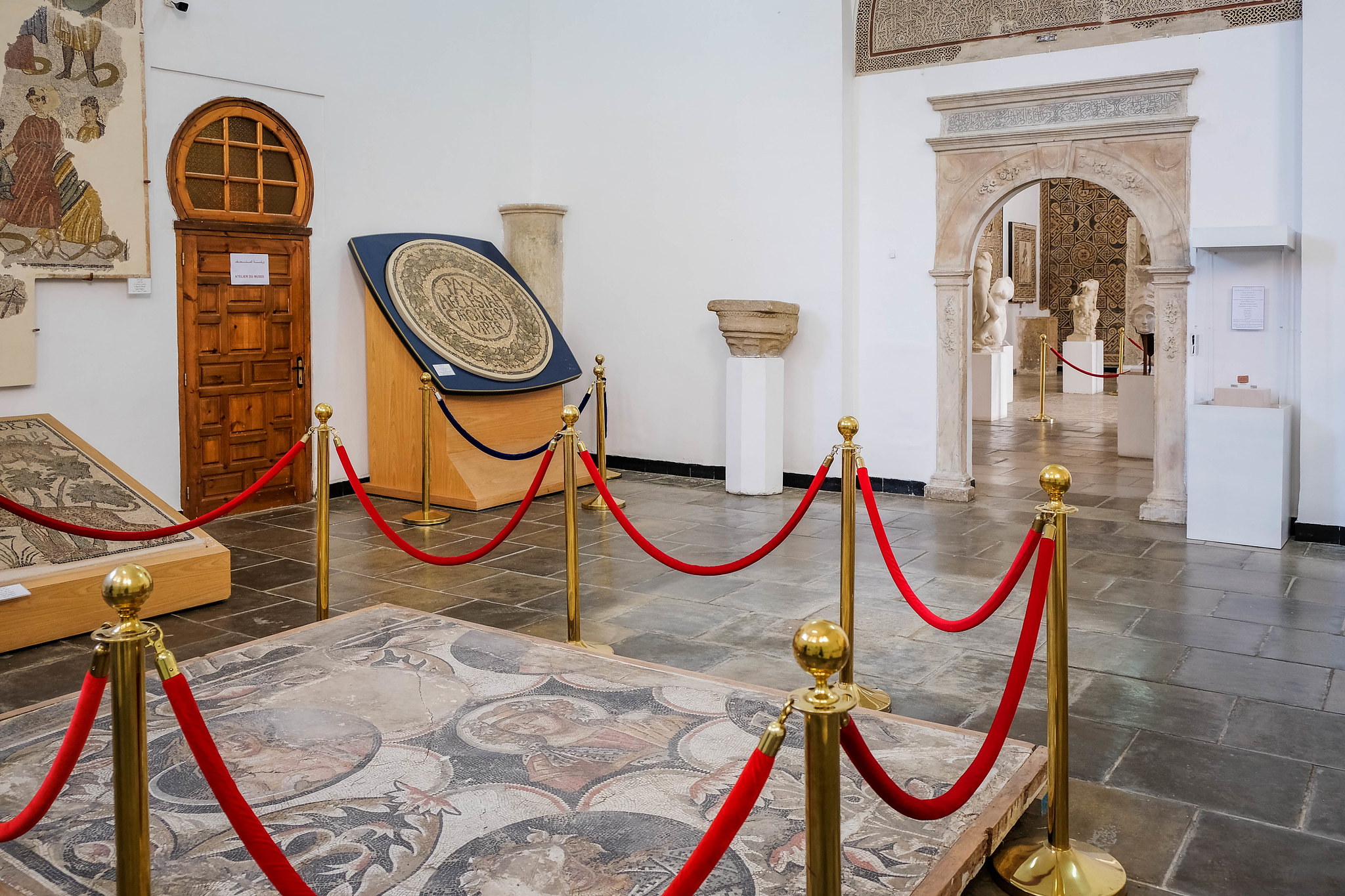 Inside the Bardo Museum, Algiers