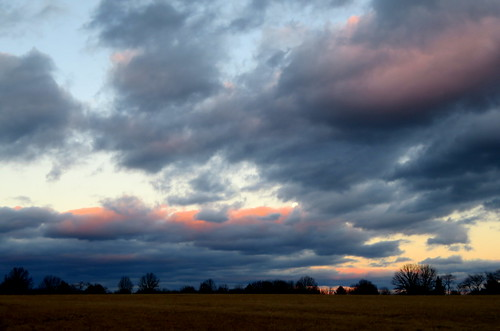 clouds sunset moon solberg airport whitehouse station nj trees readington