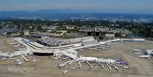 seattle tacoma seatac international airport aerial shot photos planes