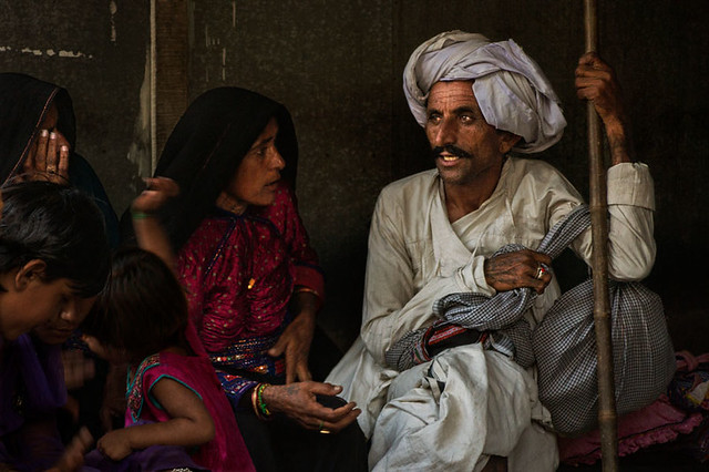 Conversation of rabari people. Anjar. Kutch. Gujarat.
