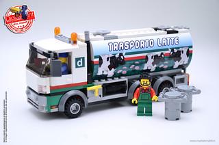 Lego set 60016 trasporto latte