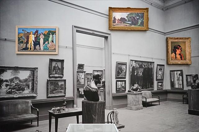 Le musée du Luxembourg en 1929 (Centre Pompidou, Paris)