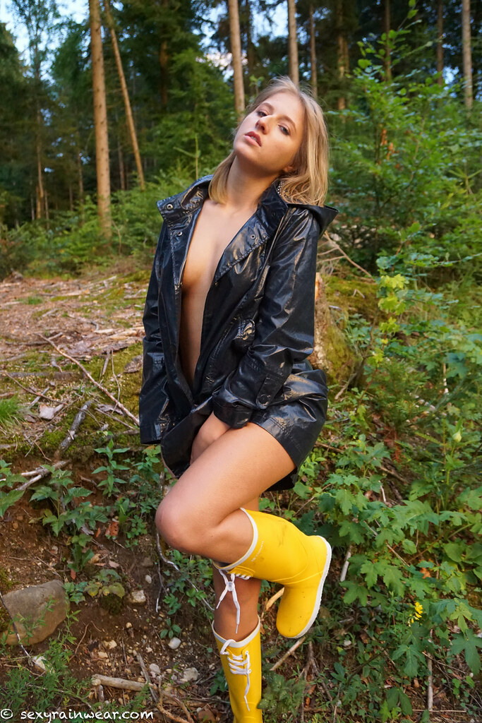 Nude In A Shiny, Ripped Raincoat 38 Pics  Www -8102