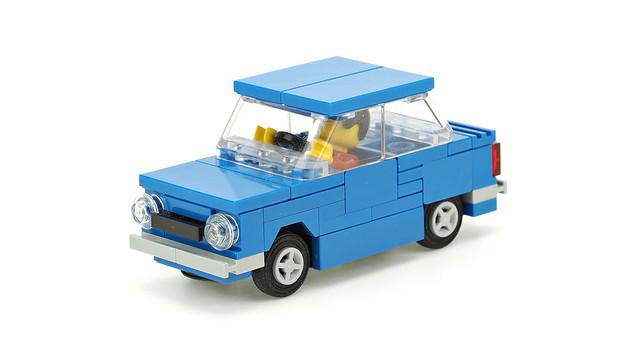 Blue car ZAZ-968M