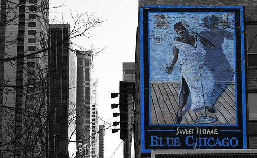 Blue Chicago   by Anthony Mark Images