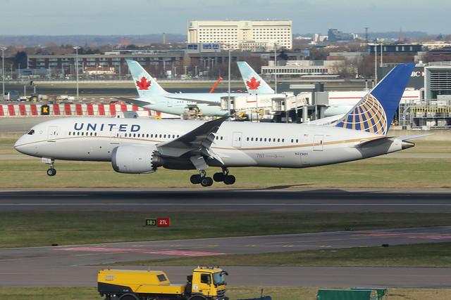N27901  -  Boeing 787-8 Dreamliner  -  United Airlines  -  LHR/EGLL 11-2-19