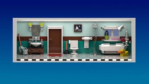 LEGO Tower Virtual Floor Bathroom Cover