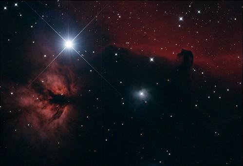 NGC2024 Flame Nebula & B33 Horsehead Nebula Stack_57frames_1710s_WithDisplayStretch | by BlackWikkett