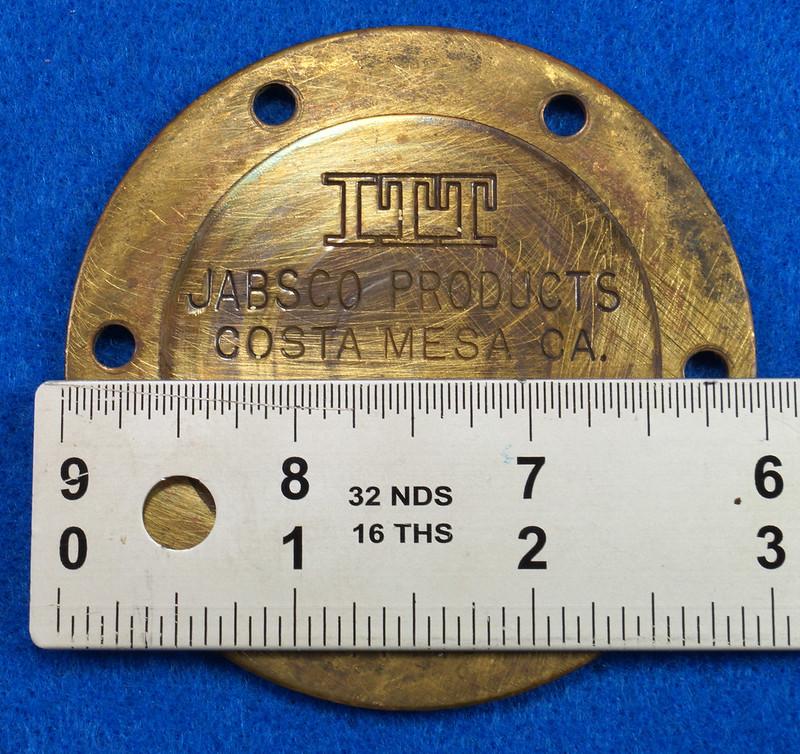 RD26708 Brass 3 inch ITT Jabsco 18400-0050 Pump End Cover Plate DSC00077