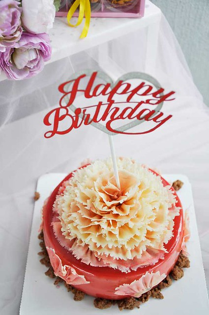 Beautifully designed paper stick for birthday cake