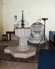 Heveningham font and Ubbeston font