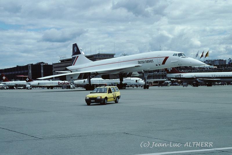 Aérospatiale/BAC Concorde 102 British Airways 102 G-BOAA. GVA, September 9. 1995