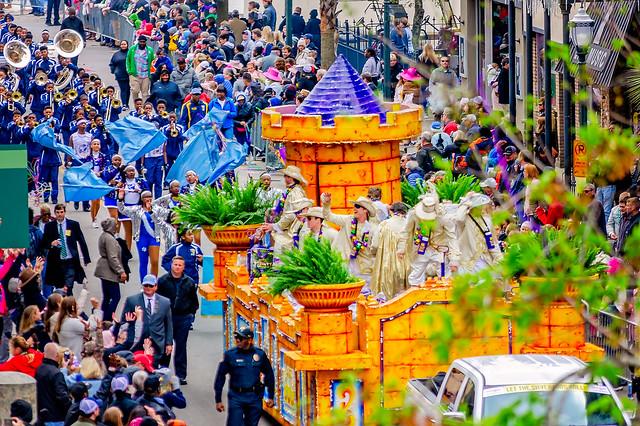 2019 King Felix III Mardi Gras parade in Mobile Alabama