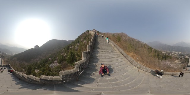The Great Wall of China as seen from the Juyongguan Pass- 360˚ VR photos (Tuesday, March 19, 2019)