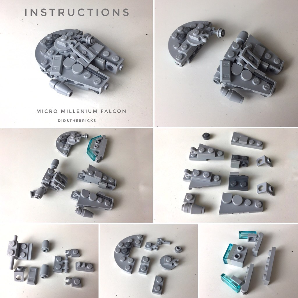Micro Millenium Falcon - Instructions