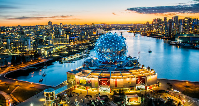 2019 - Vancouver - Science World at Dusk