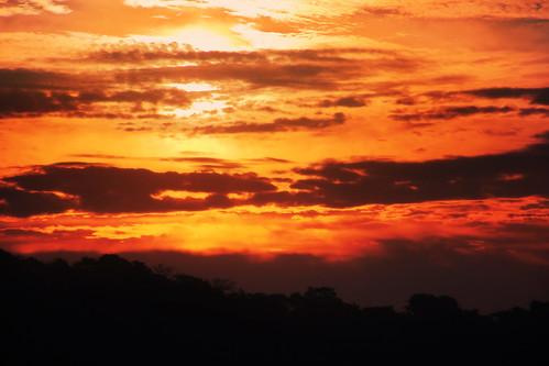 debmalyamukherjee canon550d 18135 anushaktinagar sunrise dawn silhouette mumbai clouds saffron orange sky