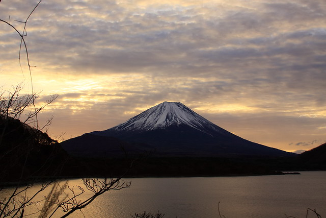 Lake Motosuko and Mount Fuji