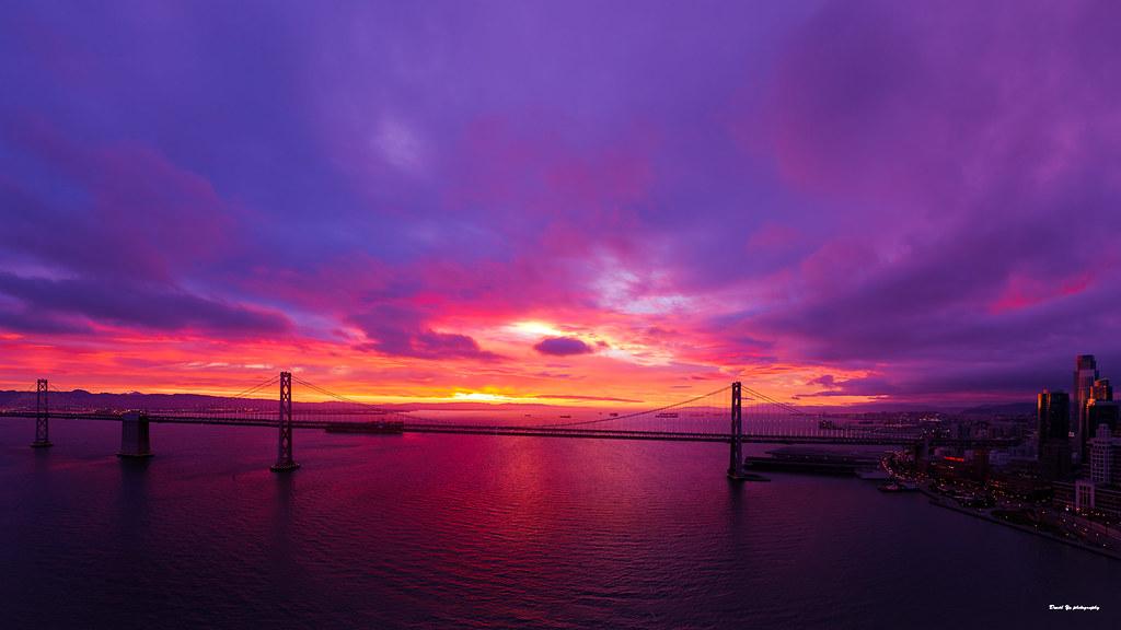 Red Dawn Over San Francisco Bay