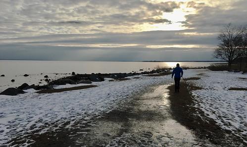 connecticut greenwich newengland goldcoast sunset sea snow usa winter