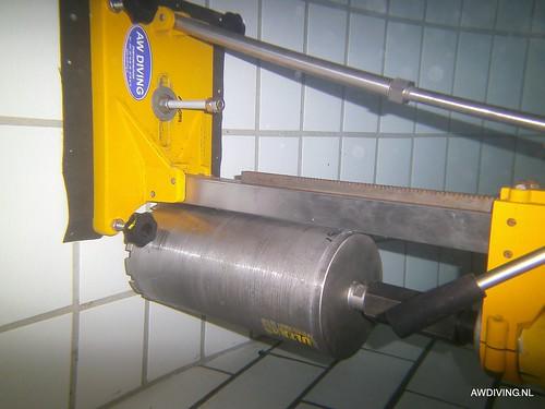 150 mm kernboor onderwater