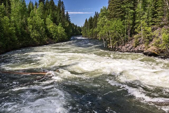 Snow melt River.