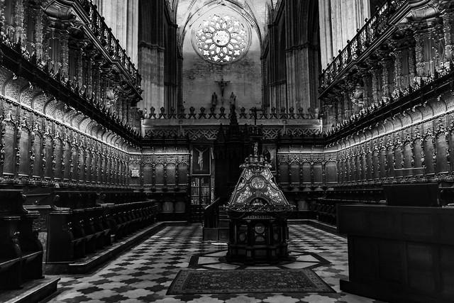 cathédrale de Séville en N&B