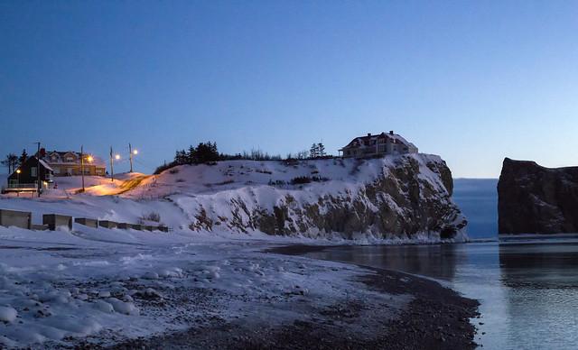 Early morning at Percé