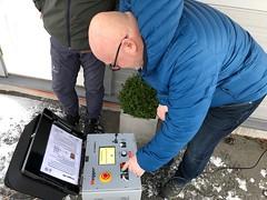 Hallingdal Kraftnett trener kabelfeilsøking hos Megger AS med deres nye EZ Thump 12kV.