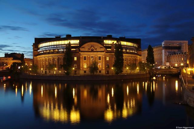 Reichstag Stockholms auf dem Gamla Stan (28.06.17)
