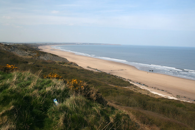View along the beach to Hunmanby and Filey