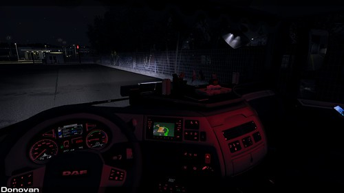 DAF XF 106 Night interior   by Sergey Donovan