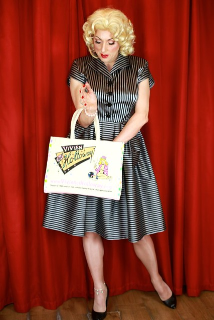 One day you're worried about job, mortgage, usual masculine things, the next day you're wearing a gorgeous 1950s frock and checking your purse for your boyfriend's credit card to buy some more frocks..